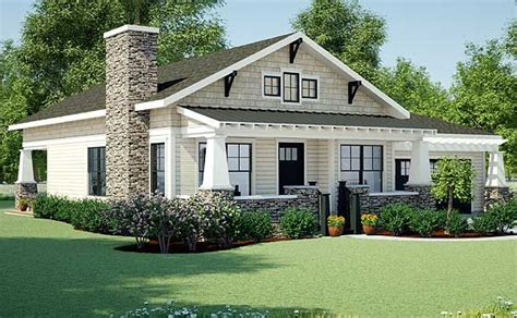 Plan 18267BE: Simply Simple One Story Bungalow Craftsman