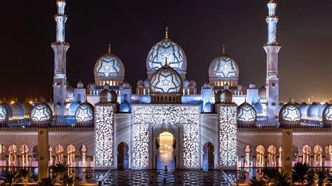 Abu Dhabi Mosque Wallpaper by Sheikh Zayed Mosque Abu Dhabi United Arab Emirates Light