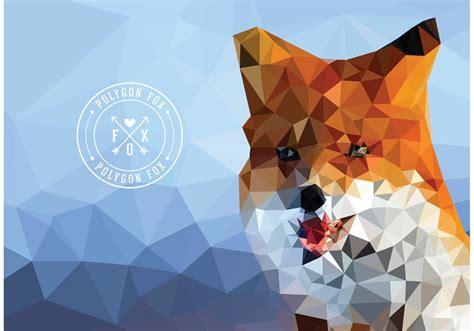 Polygon Animal Wallpaper - free vector geometric polygon fox wallpaper