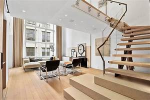 modern interior design of a duplex apartment in new york With interior design for duplex living room