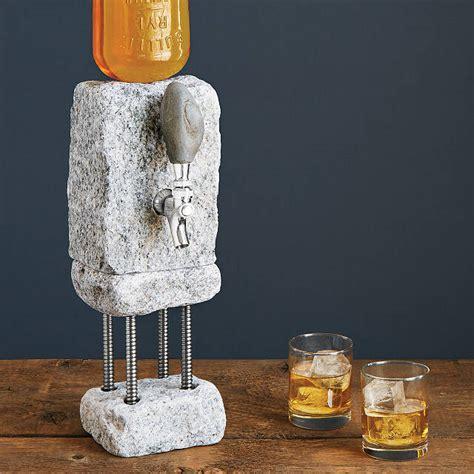 stone drink dispenser liquor dispenser shot uncommongoods