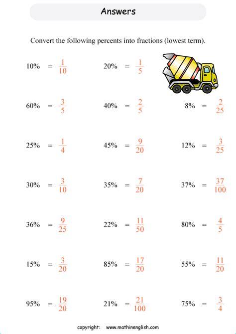 basic percents percentage printable grade  math worksheet