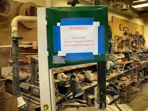 woodworking safety tip bandsaw safety