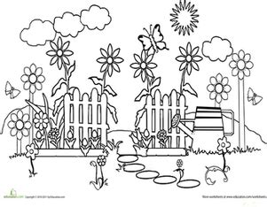 color  garden path worksheet educationcom