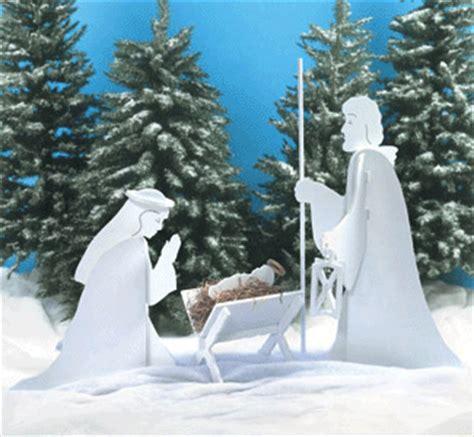 silhoutte nativity scene patterns wooden