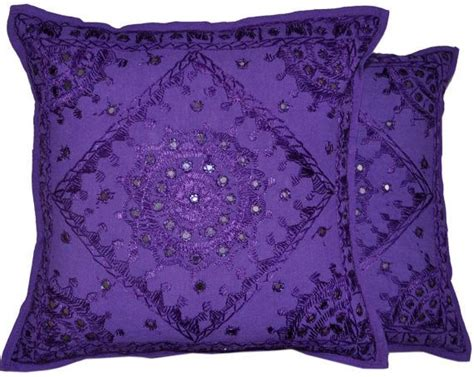 2pc Purple Boho Throw Pillow, Handmade Indian Mirror Work Pillow, Decorative Gypsy Pillow White Faux Fur Baby Blanket Super Soft Mink Crochet Edging Uk Pendleton Navajo Jacket Jackson News 2017 Marvin The Martian Throw Adhd Weighted Blankets Kansas City Chiefs 60x80