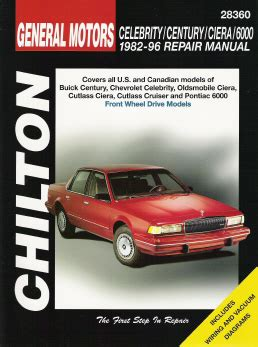 manual repair autos 1983 pontiac 6000 free book repair manuals 1982 1996 celebrity century ciera 6000 chilton s total car care manual