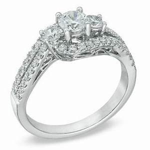 previously owned 1 ct tw certified diamond three With previously owned wedding rings zales