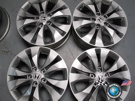 Four 2012 Honda Crv Cr-v Factory 17 Wheels Oem Rims Accord