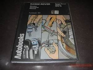 Owners Service Manual - Rangerover 1970