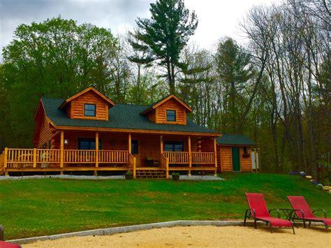log cabin rentals nh luxury new log cabin on lake winnisquam vrbo