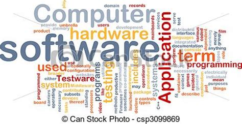 software word cloud word cloud concept illustration