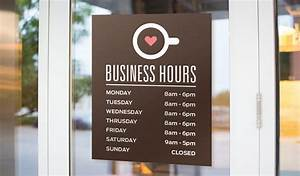 hours stickers stickeryou products With door lettering business