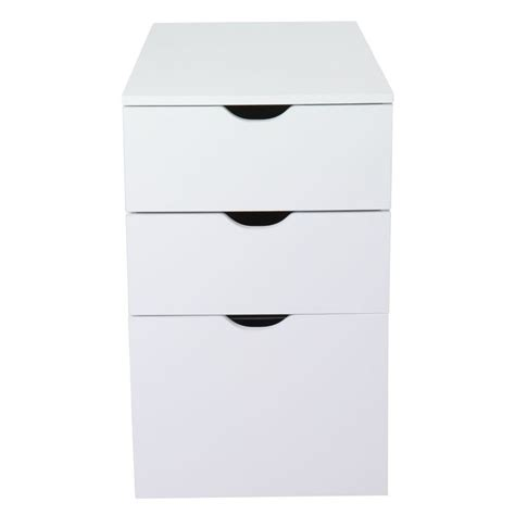 le de bureau alinea caisson de bureau 3 tiroirs blanc l30xh70xp70cm gothan