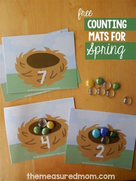 free printable counting mats count the eggs preschool 998 | cea80712912c008971062797b30772ef
