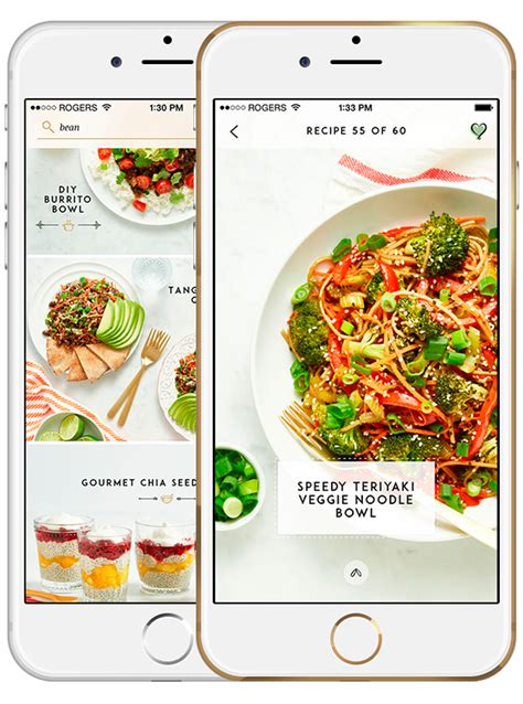 glows healthy plant based recipes app ios android
