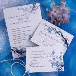 inexpensive wedding invitations cheap blue blossom floral wedding invitations ewi165 as low as 0 94