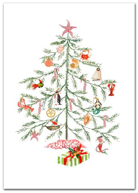 nautical christmas tree cards festive ideas boxed