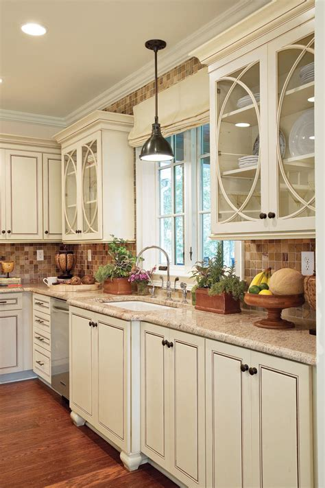 Kitchen Cabinets With Glass - kitchen cabinet types southern living