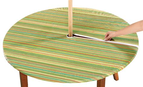 elasticized striped umbrella table cover by walterdrake ebay