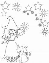 Coloring Witch Printable Shadows Sheet Wiccan Pagan Sheets sketch template