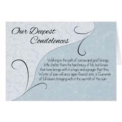 condolences card card message deepest sympathy