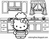 Kitty Hello Sheets Coloring Printable Pages Kitchen Cooking Oven Teenage Printables Drawing Pie Apple Simple Totally Tasty Pretty Cartoon Sky sketch template