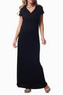 black draper maternity nursing maxi dress