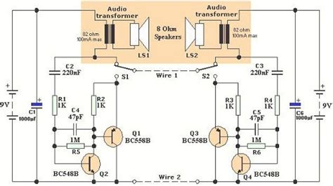 Diagram 2wire Telephone by Intercom Circuit Page 3 Telephone Circuits Next Gr