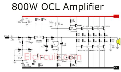 800 watt power lifier ocl audio schematic tech electronic engineering and