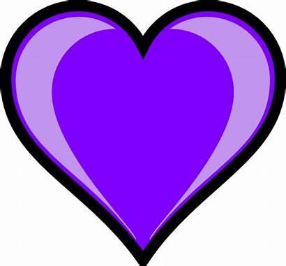 Purple Heart Clip Clipart Note Vector Clker