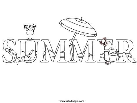 scritte da disegnare summer scritta da colorare tuttodisegni