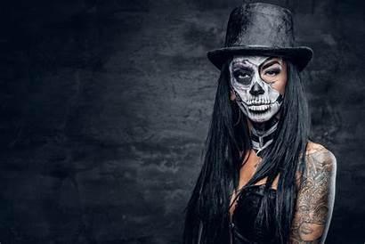 Tattoo Skull Sugar Wallpapers Woman Hat Eyes