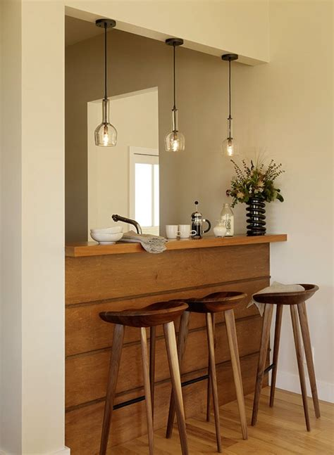 pendant lighting bar design ideas