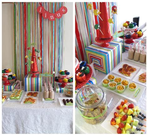 It really is that simple. Linus' Sesame Street Party: Food