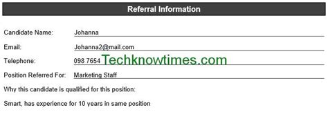 employee referral form template  ms word