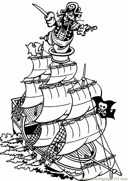 Coloring Pirate Ship Pages Pirates Printable Ships