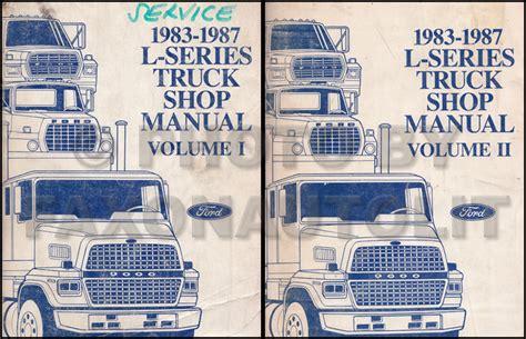 old car owners manuals 1987 ford e series navigation system 1983 1987 ford l series 7000 9000 repair shop manual original 2 volume set