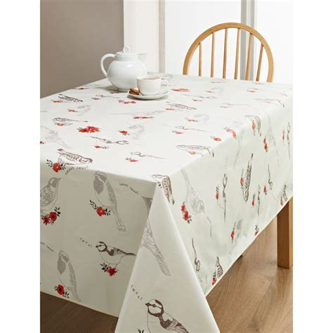 PVC Wipe Clean Tablecloth   Birds   Kitchen   B&M