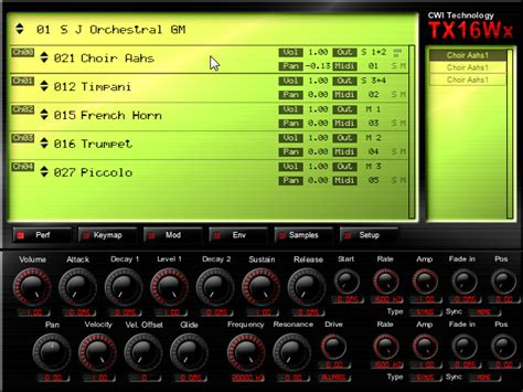 CWI Technology TX16Wx software sampler for Windows updated ...