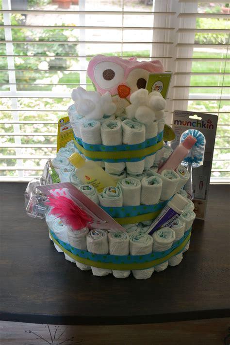 diaper cake  baby shower empty paper towel tube