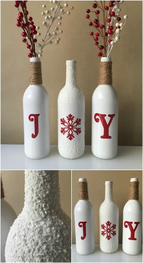 decorate wine bottle for christmas 20 festively easy wine bottle crafts for home decorating diy crafts