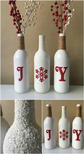 20, Festively, Easy, Wine, Bottle, Crafts, For, Holiday, Home, Decorating