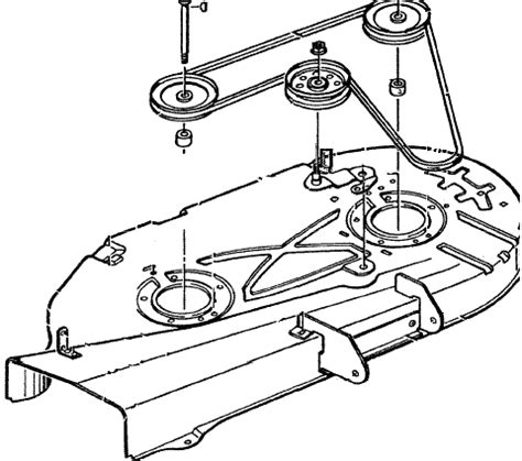 murray mower deck diagram murray 36 quot mowing deck belt diagram