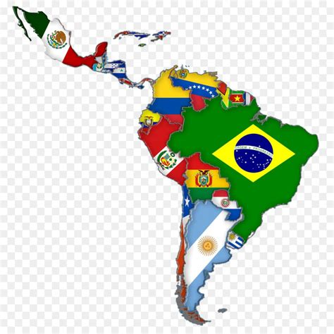 latin america flags  south america map map png