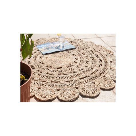 tapis cuisine noir tapis en jute nell rond diametre 120 itao