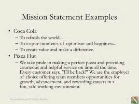 Mission Statement Exles by Lesson 1 Vision And Mission Statements