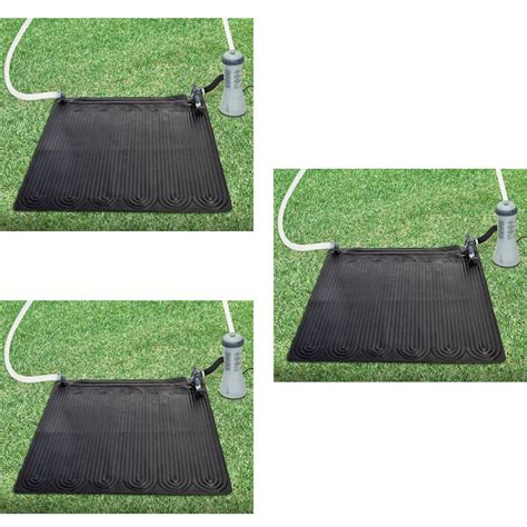 Above Ground Pool Floor Mats by 3 Intex Solar Mat Above Ground Swimming Pool Water Heater