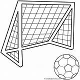 Coloring Soccer Ball Father Fathers Pages Goals Happy Sports sketch template