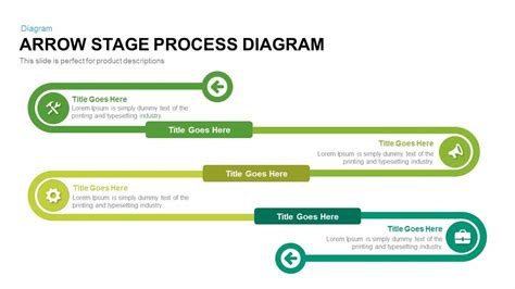 arrow stage process diagram powerpoint  keynote template slidebazaar